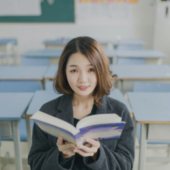 A Girl Studying Language Paper 2